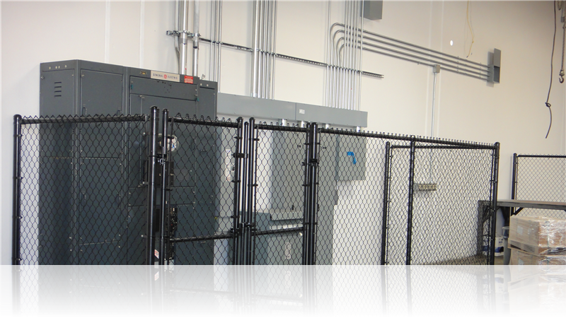 Black Poly Chain Link Cage